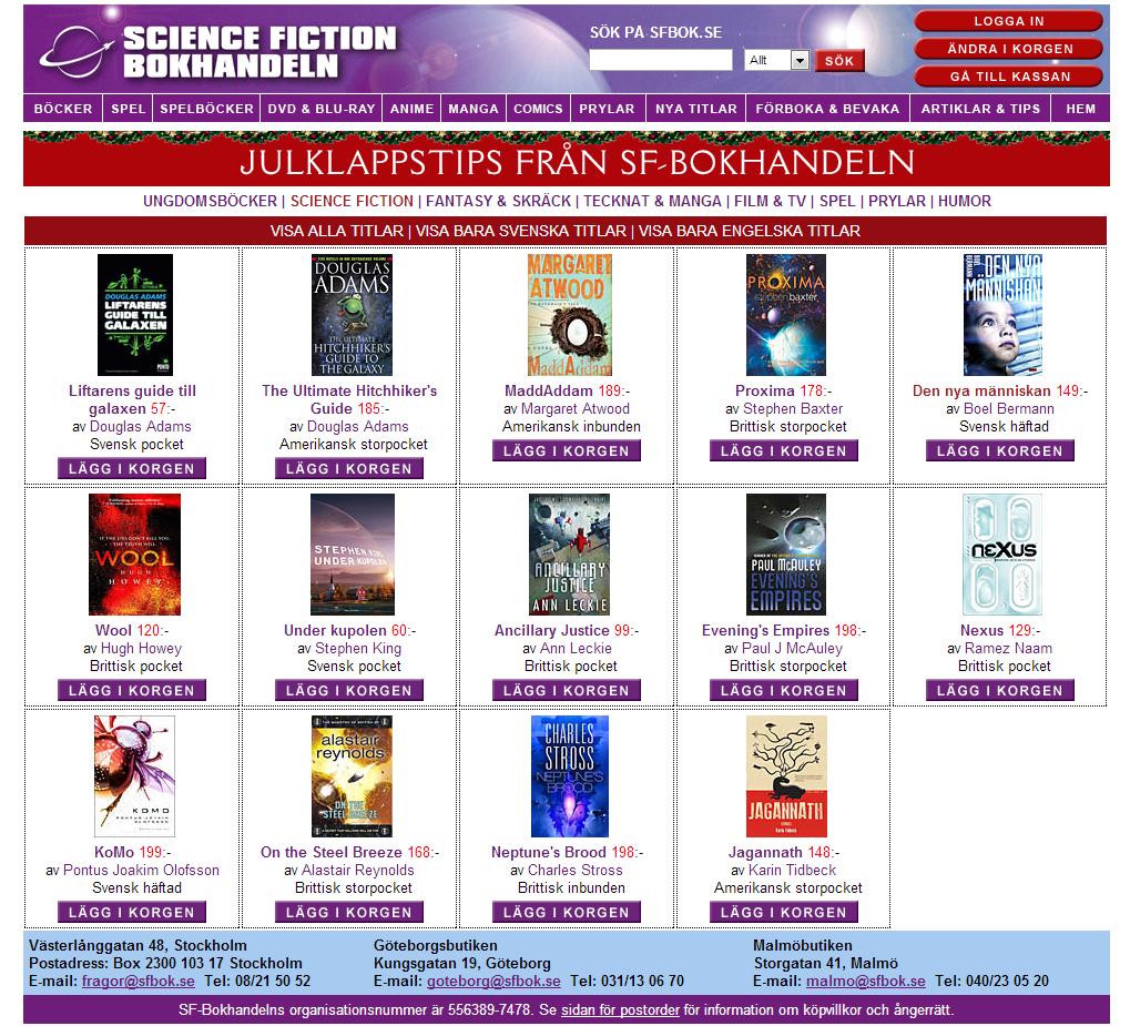 julklappstips från sf bokhandeln science fiction den nya människan ny